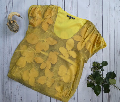 ecoprint yellow bramble top
