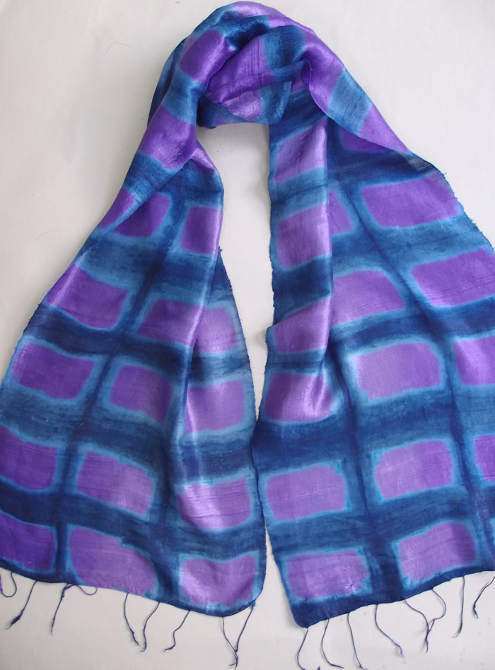 purple itajime scarf